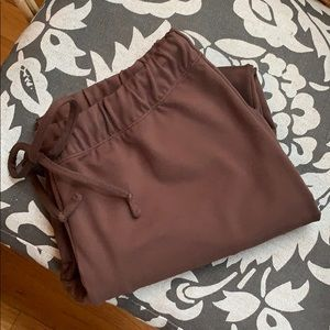Moving comfort brown cropped yoga pant S